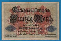 DEUTSCHES REICH 50 Mark 05.08.1914 Série Z # 1420082   P# 49b DARLEHENSKASSENSCHEIN - 50 Mark