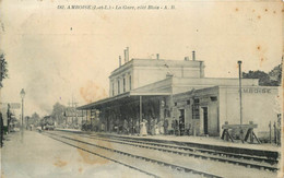 AMBOISE - La Gare, Côté Blois.(carte Vendue En L'état). - Estaciones Sin Trenes