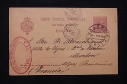 ESPAGNE - Entier Postal De Valencia Pour La France En 1900 - L 77946 - 1850-1931
