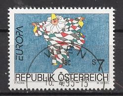 Europa CEPT 1993 Autriche - Österreich - Austria Y&T N°1922 - Michel N°2095 (o) - 7s EUROPA - 1993
