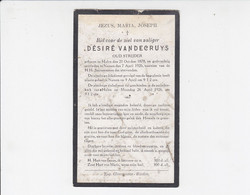 2 X Doodsprentje - Désiré Vandecruys - Oud-strijder - Halen 1878 / Namen 1926 / Ludovicus De Bruyn 1891 / Marchin 1929 - Todesanzeige
