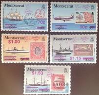 Montserrat 1990 Stamp World Surcharge Overprint Aircraft Ships MNH - Montserrat