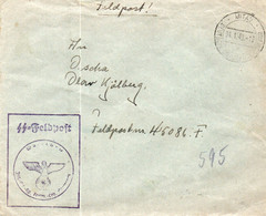PIL  SS FELBPOFT 45086F INFANTERIE SS 31/1/43. - Storia Postale