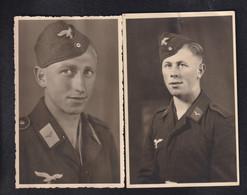 DR 2 X Fotokarte Soldat Aus Killer Bei Hechingen - Oorlog 1939-45