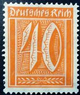 Allemagne Germany Deutschland 1922 Filigrane B Yvert 165 ** MNH - Ungebraucht