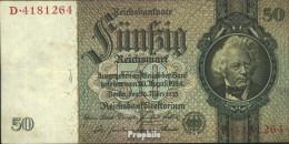 Deutsches Reich Rosenbg: 175a, Udr.-Bst.: E, Serien: A-P, KN 7-stellig Gebraucht (III) 1933 50 Reichsmark - 50 Reichsmark