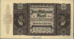 Deutsches Reich Rosenbg: 89b, Kontrollnummer 18 Mm Lang Gebraucht (III) 1923 2 Millionen Mark - 2 Millionen Mark