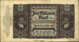 Deutsches Reich Rosenbg: 89a, Kontrollnummer 16 Mm Lang Gebraucht (III) 1923 2 Millionen Mark - 2 Millionen Mark
