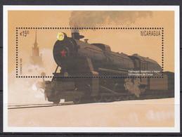Nicaragua 1996 - Mi.Nr. Block 250 - Postfrisch MNH - Eisenbahnen Railways Lokomotiven Locomotives - Trains