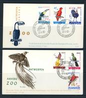 BE   FDC  1216 - 1221   ---   Philantropique : Zoo Anvers : Oiseaux  --  Bel état - 1961-70