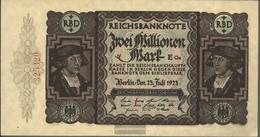German Empire Rosenbg: 89b, KontrollnuMillimeterer 18 Millimeter Long Used (III) 1923 2 Million Mark - 2 Millionen Mark