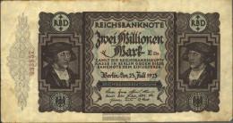 German Empire Rosenbg: 89a, KontrollnuMillimeterer 16 Millimeter Long Used (III) 1923 2 Million Mark - 2 Millionen Mark