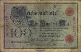 German Empire Rosenbg: 30 Used (III) 1907 100 Mark - 100 Mark