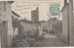 D17 - MESCHERS - CLOCHER DE MESCHERS ET VIEILLE RUE - ENVIRONS DE ROYAN - Quelques Personnes Dans La Rue - Puits - Meschers