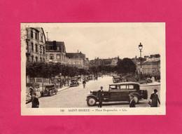 22 Côtes D'Armor, SAINT BRIEUC, Place Duguesclin, Animée, Voitures, Gendarme, 1938, (L. L., CAP) - Saint-Brieuc