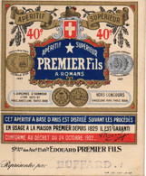 Publicité Apéritif PREMIER Fils à Roman (Isère) - Publicités