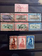 EGYPTE .1926 à 1927.  Lot De 10 Oblitérés  . Côte YT 2020  :  23,25 € - Oblitérés