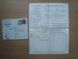 ENVELOPPE + DOCUMENT J. FLEURY - HERMAGIS OPTIQUE DE PRECISION PARIS 1907 - 1877-1920: Periodo Semi Moderno