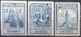 PORTUGAL N° 369 à 371 COTE 3,50 € NEUFS * MH SERIE DE 3 VALEURS DE 1925 SURTAXE OBLIGATOIRE - Ungebraucht
