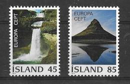 EUROPA CEPT ISLANDE ( N° 475/476) NEUF** - 1977