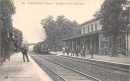 Liancourt         60         Intérieur De La Gare. Train.      (voir Scan) - Liancourt