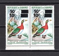 DAHOMEY  PA N° 111d + 111a  DOUBLES SURCHARGES + F MAIGRE  NEUFS SANS CHARNIERE  COTE  + 155.00€   OISEAUX ANIMAUX - Benin - Dahomey (1960-...)