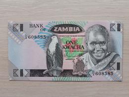 ZAMBIA - 1 Kwacha Nd.(1980-1988) -UNC - Zambia