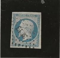 TIMBRE NAPOLEON III - ND N° 14 Af - BLEU LAITEUX - ANNEE 1854 - COTE:15 € - 1853-1860 Napoleone III