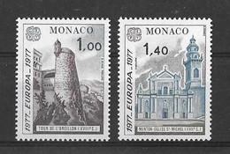 EUROPA CEPT MONACO ( N° 1101/1102) NEUF** - 1977