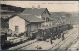 Saint Just En Chevalet , Train En Gare , Ligne De Roanne à Vichy , Animée - Sonstige Gemeinden