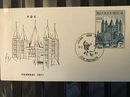 FDC 1570 KATHEDRAAL DOORNIK 1971 ECHOPHIL STEMPEL HOUTHALEN - 1971-80