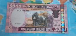 RWANDA 5000 FRANCS 2009 P 37 USED - Rwanda