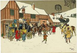 2 CP DILIGENCE Avec Chevaux, Voyageurs... Illustrateur Harry Elliot - Ed. M. Barré & J. Dayez - R/V - Elliot