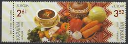 (!)  Timbre CEPT EUROPA De 2005 Thème Gastronomie UKRAINE  Y&T N° 640/641 Neufs ** Mnh - 2005