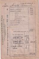 REGIA AERONAUTICA- BUSTA PAGA VUOTA DI TENENTE PILOTA -AEROPORTO A, DE BERNARDI - BENGASI-LIBIA --1938- - Documentos