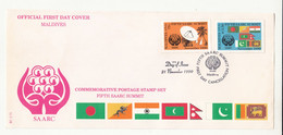 1990 Maldives Fdc Saarc Joint Issue Pakistan Bhutan Nepal Srilanka . - Joint Issues