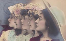 PORTRAIT FEMMES PROFIL COLORISE - CIRCULEE 1905(lot Pat 129) - Mujeres