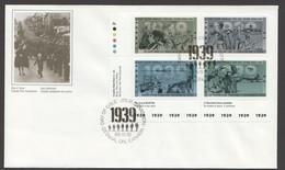 1989   World War II  _ Series 1      Sc 1260-3    Inscription Block Of 4 Different - 1981-1990