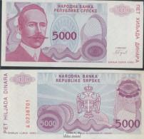 Bosnien-Herzegowina Pick-Nr: 152a Bankfrisch 1993 5.000 Dinara - Bosnie-Herzegovine