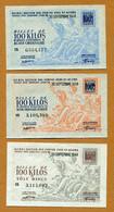 BILLET MATIERE : Collection De 12 Billets Différents (fer - Fonte - Tôle - Acier) 1948 - Bonos