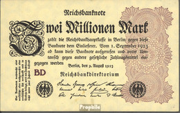 Deutsches Reich Rosenbg: 103c, Wasserzeichen Ringe Gebraucht (III) 1923 2 Millionen Mark - 2 Millionen Mark