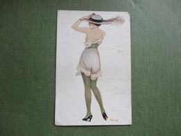 ILLUSTRATEUR A.JARACH RUE DE LA PAIX FEMME NUISETTE BAS CHAPEAU - Andere Illustrators