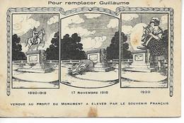 Militaria METZ Moselle Pour Remplacer Guillaume Vendue Au Profit Du Monument à élever Par Le Souvenir Français    ...F - Altri Comuni