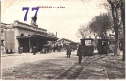 FR66 PERPIGNAN - Brun - La Gare - Tramways - Attelages - Animée - Belle - Perpignan
