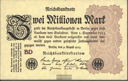 German Empire Rosenbg: 103c, Watermark Rings Used (III) 1923 2 Million Mark - 2 Millionen Mark