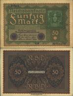 German Empire Rosenbg: 62a, Row 1 Used (III) 1909 50 Mark Vienna - 50 Mark