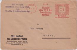 DR 3 Reich Freistempel Bf M 3 Reich Propaganda Gotha 1933 - Affrancature Meccaniche Rosse (EMA)