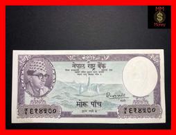 NEPAL 5 Mohru 1956  P. 9  Sig. 4  XF \ AU - Nepal