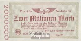 Berlin Pick-Nr: S1012c Inflationsgeld Der Deutschen Reichsbahn Berlin Gebraucht (III) 1923 2 Millionen Mark - 2 Millionen Mark