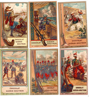 18 Chromos Chocolat Guérin-Boutron, Armes, Militaire - Guerin Boutron